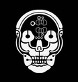 Skull with Brain vector image