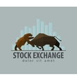 stock exchange business finance flat vector image vector image