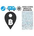 Thai Baht Map Marker Icon with 1000 Medical vector image vector image