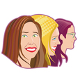 Three women vector image vector image