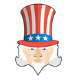 Uncle Sam icon Patriotic American hero USA vector image vector image