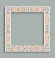 vintage square frame with ornamental pattern vector image vector image