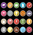 Web and internet icons with long shadow vector image vector image