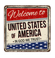 welcome to united states america vintage rusty vector image
