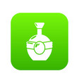 whiskey icon green vector image vector image