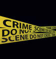 yellow crime scene tapes vector image