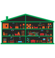 furniture in the house vector image