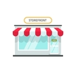 Store isolated shop front vector image