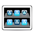 ABC cubes blue app icons vector image