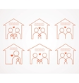 set of family and house icons family love vector image