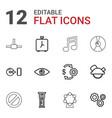 12 circle icons vector image vector image