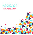 abstract colorful triangle white background vector image vector image