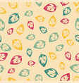 abstract pattern with leaves on yelow background vector image vector image