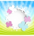 abstract summer or spring background with vector image