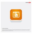 app window interface icon orange abstract web vector image