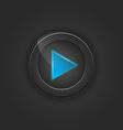 Black button play vector image vector image