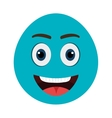 blue cartoon face smiling graphic vector image vector image