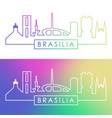 brasiliai skyline colorful linear style editable vector image vector image