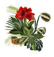 bright green summer tropical design element vector image vector image
