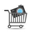 buying cart camera photographic design vector image