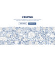 camping banner design vector image