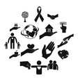 charity black simple icons vector image
