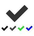 check tick flat icon vector image vector image