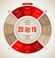 Christmas and New year calendar 2015 vector image vector image
