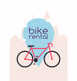 city bike hire rental tours for tourists and city vector image vector image