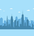 cityscape silhouette background abstract city vector image vector image
