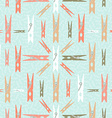 Clothespin retro seamless pattern shape background vector image