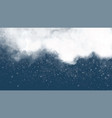 cloudy sky with falling snowflakes winter vector image vector image