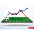 Concept statistics about the game of soccer vector image vector image