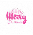 congratulations merry christmas calligraphy vector image vector image