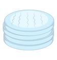 Cotton disc icon cartoon style vector image vector image