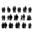 couple with different body sizes and physical vector image vector image
