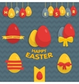 Cute Easter set of labels ribbons and other vector image vector image