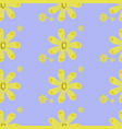 daisies pattern seamless violet background vector image vector image