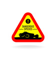 Dangerous species warning sign Stonefish vector image vector image