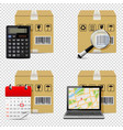 delivery icons isolated on transparent background vector image vector image