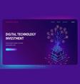 digital technology investment isometric landing vector image