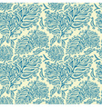 Doodle ink seamless leaf pattern vector image