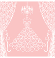 dress curtains and chandelier vector image vector image