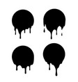 dripping black circles liquid drops ink vector image