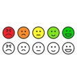 Emoji icons for rate of satisfaction level vector image vector image