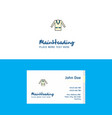 flat coat logo and visiting card template vector image