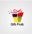 gift fruit logo icon element and template vector image