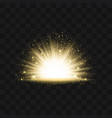 gold glittering trail sparkling stardust abstract vector image