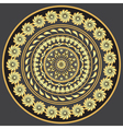 Gold round vintage pattern vector image vector image