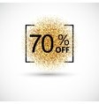 Gold sale 70 percent background vector image vector image